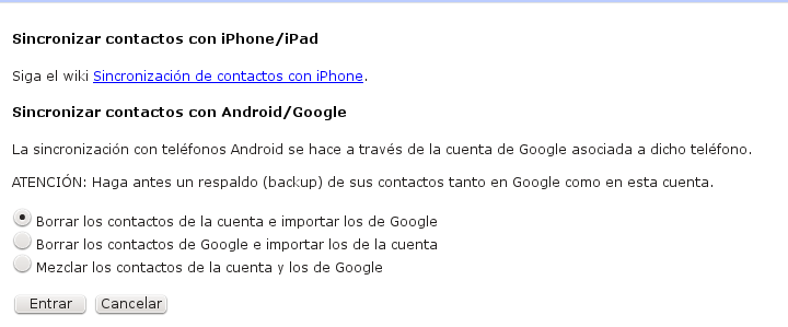 sincronizar google